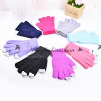 Wholesale New Touch Screen Gloves for Smart Phone Tablet Women Men Warm Full Finger Winter Gloves plain knitted gloves M233