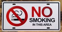area club - No Smoking In This Area Metal Poster Decor Pub Bar Club Home Wall Retro Embossed Metal Tin Sign x30cm
