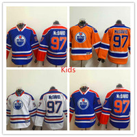 Wholesale 2016 America Premier Kids Ice Hockey Jerseys Oiler captain Connor McDavid Jersey With C Patch Youth Best Quality mix orders