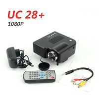 Wholesale UC28 Portable Mini Projector Projetor Full Hd x1080 Home Cinema Beamer PC Laptop VGA USB SD AV HDMI Interfaces
