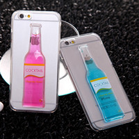 beer cocktails - Fashion Candy color Cocktail Beer Liquid Quicksand Cup transparent Clear Case Cover for Iphone s splus Sumsung galaxy S6 edge S7 edge