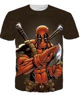 badass t shirts for men - Alisister New Arrive American Comic Badass Deadpool T Shirt for Men Cartoon Characters d t shirt brand fitness camisetas tees