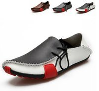 Wholesale Casual Rubber Slipper For Men - Designer Shoes for Men New Products Fashion Comfortable Driving Soft Linings Wholesale Leather Lazy Slippers for Casual Men Doug Shoes