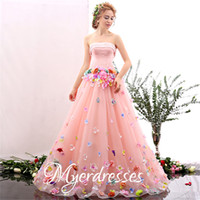 beautiful fairy pictures - 2016 Nice Fairy Evening Dresses Long High Quality Women Formal Pageant Dresses with Colorful Handmade Flowers Beautiful Beach Party Gowns