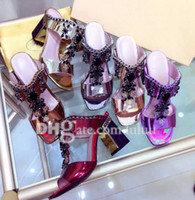 Wholesale Shining Diamond Shoes - Summer high-heeled sandals crude imports with imports of leather fashion brand diamond shining on foot is very Women's sexy shoes