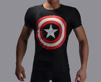 civil war clothing - Men Marvel Avengers Captain America Civil War Tee D Printed T shirts Gym Clothing Short Sleeve Fitness Compression Tops