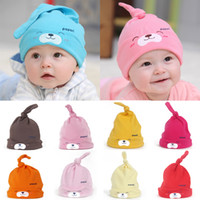 Unisex Winter Crochet Hats Fashion Spring Autumn Winter Baby Hat New Comfort Cartoon Baby Toddlers Cotton Sleep Cap Headwear Cute Hat Mult-color