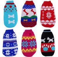 Wholesale pet dog cat sleeveless sweater Slim Clothes Snow Coat Collocation Warm Winter autumn fashion JF