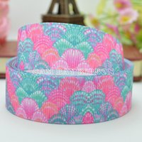 Flower animal print tape - NEW quot mm Animal Sea Shells Flower Print Grosgrain Ribbon Hair Bow DIY Handmade Sewing Ribbon Crafts Materials Garments Decorating Tape