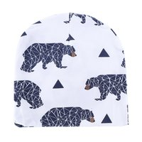 Wholesale Kids Hats INS Purified Cotton Hats Children Fashion Cartoon Caps INS Batman Fox Beanies Panda Tiger Hats Printed Baby Caps Styles