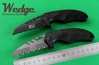 best small folding knives - WEDGE Mtech F75 Karambit Claw Small Fast open Half Serrated Jackknife Folding Pocket OEM EDC knife Aluminum Best Gift Survival knives