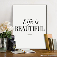 beautiful life quotes - Nordic Minimalist Beautiful Life Typography Quotes A4 Art Print Poster Wall Picture Living Room Decor Canvas Painting No Frame