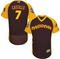 arizona national - 2016 Baseball All Star Arizona Diamondbacks Welington Castillo National Brown Flexbase Jerseys Accept Mixed Orders Best Quality