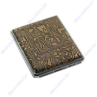 Wholesale Egyptian Style Cigarettes Hard Box Metal Cigarette Case Holder