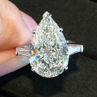 Wholesale 6 Ct GIA Pear Shape Diamond Engagement Ring Stone Certified VVS1 Platinum