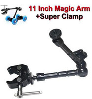 Wholesale 11 Inch Magic Arm and Super Clamp for DSLR LCD Camera Monitor LED light Holder