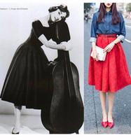 apparel lines - Women Maxi Skirt Print Floral A Line Pure Colour Plus size S M L XLAmerican Apparel CM Zipper Skirts Elegant High Waist Solid Color Dress