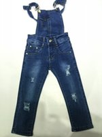 Wholesale New Girls Jeans Overalls Ripped Jeans T T Group Sizes Elastic Skinny Jeans Ripped Girl Jeans