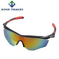 Wholesale Soul Travel Cycling Sun Glasses Multi Polyurethane Polarized Bicycle Bike Sunglasses Goggle Eyewear Unisex Accessories Real Ciclismo
