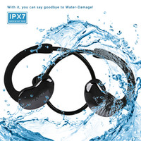 IPX7 Bluetooth Waterproof Headphones Wireless Cell Phones Sport Headphone Waterproof IPX7 Stereo Bluetooth headset Mobile phones Hands-free Microphone for Sports Swimming Outdors With Retail Package