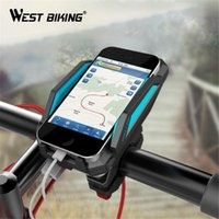 Wholesale Degree Rotation Bicycle Phone Holder For GPS With ReChargable Stand Bike Navigation Cycling Phone Holder Bicycle Accessories