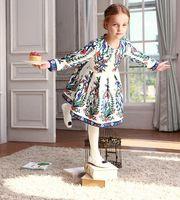 baby clothes luxury - High End Luxury Brand Designer Wl Monsoon Winter Girls Dress Dobby Floral White Beading Dress Children Clothing Baby Girl