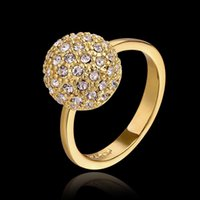 Wholesale 18k gold plated shamballa rings for women anillos vintage bijoux aneis ring bague femme womens rings joias anel ouro JZ5561