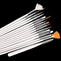Wholesale Nail Brush PC Nail Art Polish Painting Draw Pen Brush Tips Tools Set UV Gel Cosmetic Nail Tools White pink