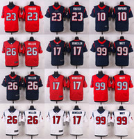 Wholesale Elite Mens Texans Elite JJ Watt Arian Foster DeAndre Hopkins Lamar Miller Brock Osweiler Jerseys Free Drop Shipping