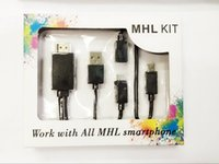 Wholesale Smartphone Hdtv Mhl Adapter Cable - MHL To HDMI Adapter Kit 6.5 Feet 2M Micro USB to HDMI Cable 1080p HDTV, Push from Smartphone to TV Multi Control Wiplug Cable Converter