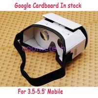Wholesale Virtual Reality VR Google Glasses Google Cardboard D Glasses for Mobile Phone Screen Google Cardboard glasses DHL free ship