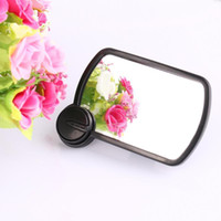 Wholesale 1pc Brand New Car Rearview Mirror Auxiliary ABS Material Rotatable Sucker Side Mirror Black