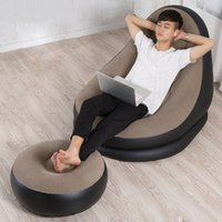 bean couch - Fashion Inflatable Sofa Living Room Chair Portable Bean Bag Sleeping Reading Couch Lounger Chair Cozy Beanbag JF0060