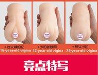venta caliente! 3 tamaños juguetes sexuales coño masturbación Virgina de bolsillo de los hombres Masturbator del gatito para los hombres sensación virgen