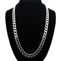 Wholesale Men Solid Miami Cuban Link Chain Fully Iced Out Hip Hop Bling Hot New Arrival Promotion Width mm Length cm Jewelry