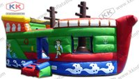 Cheap pirate ship inflatable air bouncer castle,inflatable combo for sale pirate ship inflatable air bouncer castle inflatable combo for sale