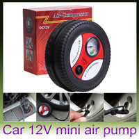 Wholesale Car Styling Inflatable Pump V PSI Mini Portable Car Air Compressor Tire Electric Inflater Auto Pumps Retail package