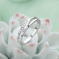 Wholesale Forever love lover s couple rings sterling sliver open rings factory low price
