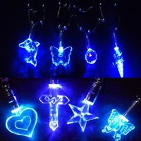alloy deliver - Fancy Jewelry LED Blue Light Charmng Magnetic Pendant Necklace Pattern Randomly Delivered NL