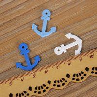 anchor embellishment - 500 Cartoon Navy Helm Anchor DIY Scrapbooking Room Hanging Crafts Party Decoration Wood Embellishment