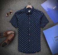 bogner - 2016 NEW Mens Summer Brand Shirt Fashion letter Print Short Sleeve Carsual shirts bogner shirts CC545