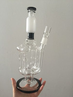 Glass bamboo tubes - Newest white black Glass Bongs Honeycomb Percs thick bamboo tube Recycler oil rigs Bongs Beaker Bowl Oil Rigs Water Pipes Hookahs