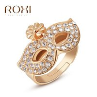 austria professional - ROXI foreign trade for the professional jewelry jewelry Han Feng Austria crystal rose gold ring mask