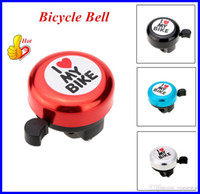 Wholesale Bicycle Bell Outdoor Bike Sports Aluminum Cover with I Love you Printing for Four Colors Bicycle Accessories Alarm Ring OUT0471