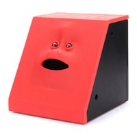 face bank money box - Cute Electronic Piggy Facebank Face Bank Saving Sensor Coin Money Eating Box Gift Toys For Children Pink Red Blue