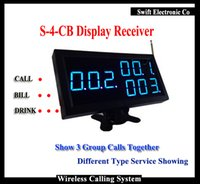 Wholesale 2016 New Restaurant Wireless Call System Display Receiver P CB Show Group Call Number Can work With bell Button