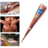 Wholesale New Natural Brown Indian Henna Tattoo Paste Cones Mehndi Henna Tattoo Paste Cream for Body Painting Gift