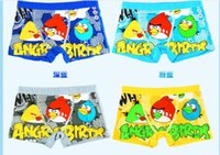 Wholesale Retail Cartoon angry bird Baby briefs Boxers Underwear breathable antibacterial underpants knickers DHL shipping