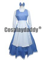 beauty girl games - Beauty And the Beast Cosplay Belle Halloween Blue Girls Long Maid Dress Costume