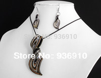 bead earrings kits - eaded christmas earrings Romantic Necklace Hot Sale Sapphire Jewelry Sets set Kit Lampwork Murano Glass Bead Pendant Earrings Fashi